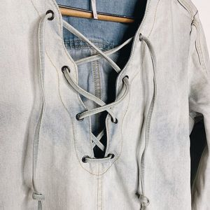 Free People Jean Shirt/Dress